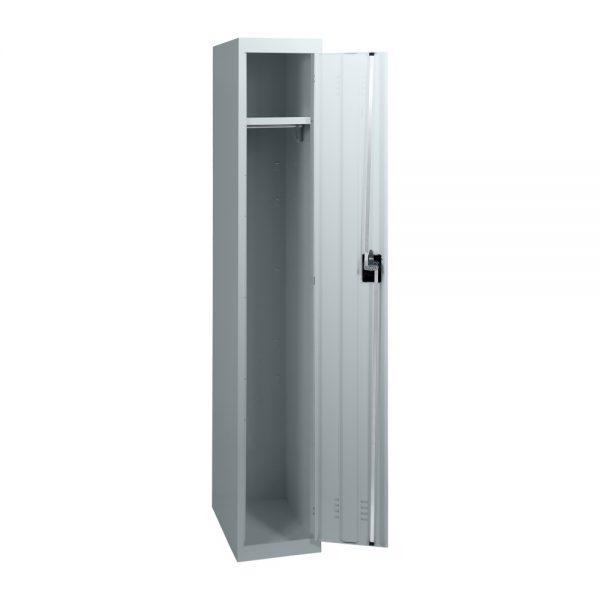 Simple Steel 1 Door Locker Australian Made Light Grey Open