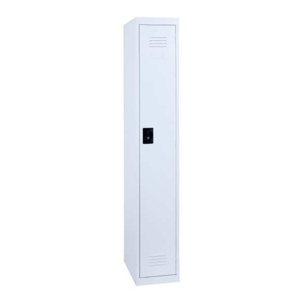 Simple Steel 1 Door Locker Australian Made White