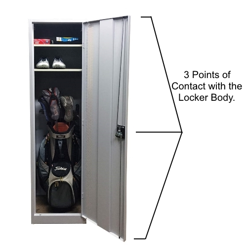 golf locker sports locker with 3 point locking