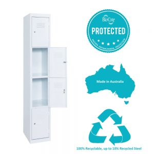 4 tier antimicrobial locker hi tech lockers