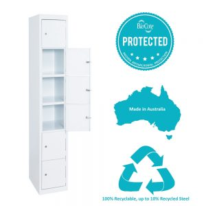 6 tier antimicrobial locker hi tech lockers