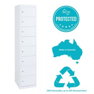 8 tier antimicrobial locker hi tech lockers