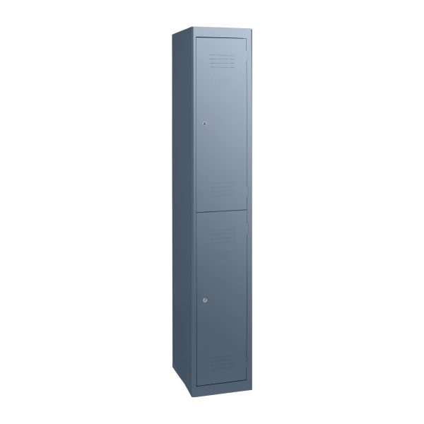 Simple Steel 2 Door Locker Australian Made Graphite Ripple