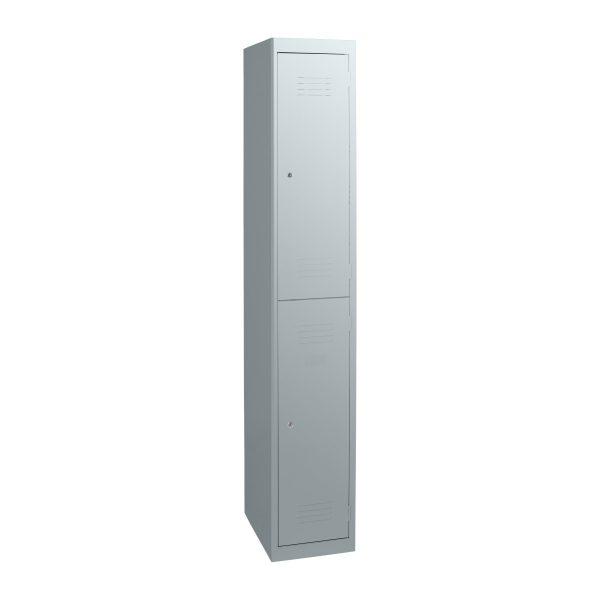Simple Steel 2 Door Locker Australian Made Light Grey