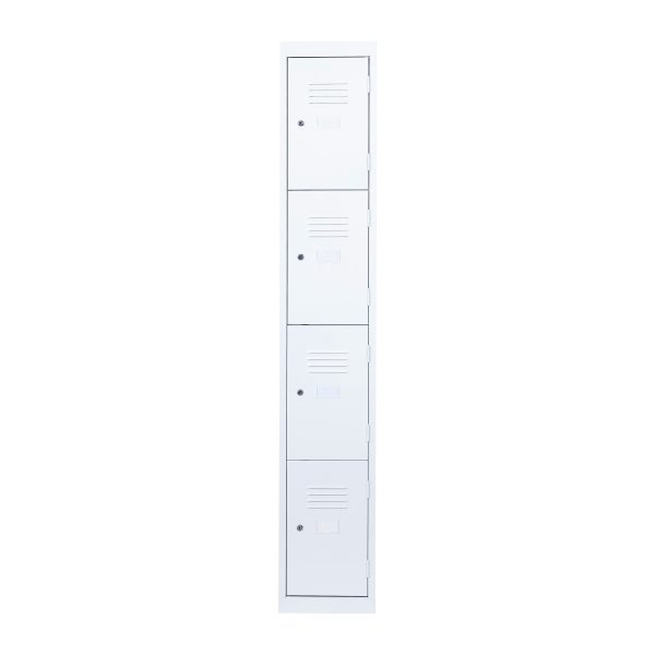 Simple Steel 4 Door Locker Australian Made White Front
