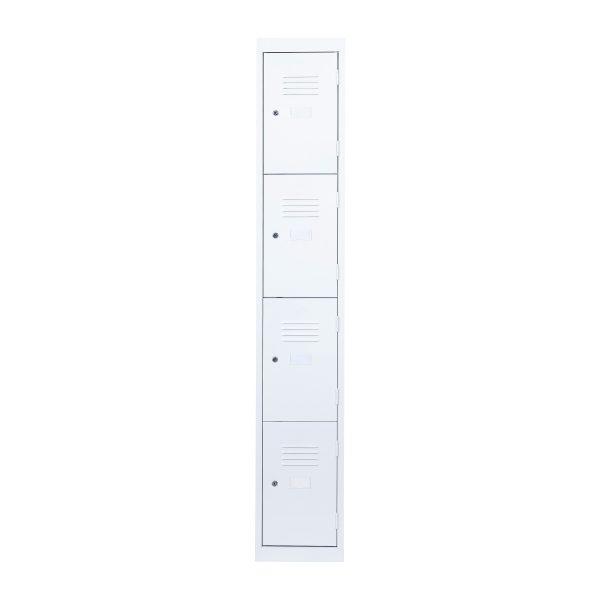 Simple Steel 4 Door Locker Australian Made White Front