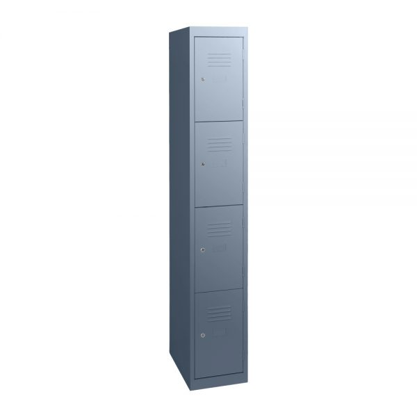 Simple Steel 4 Door Locker Australian Made Graphite Ripple