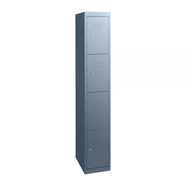 Simple Steel 4 Door Locker Australian Made Graphite Ripple