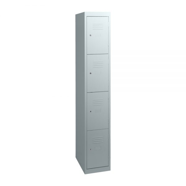 Simple Steel 4 Door Locker Australian Made Light Grey