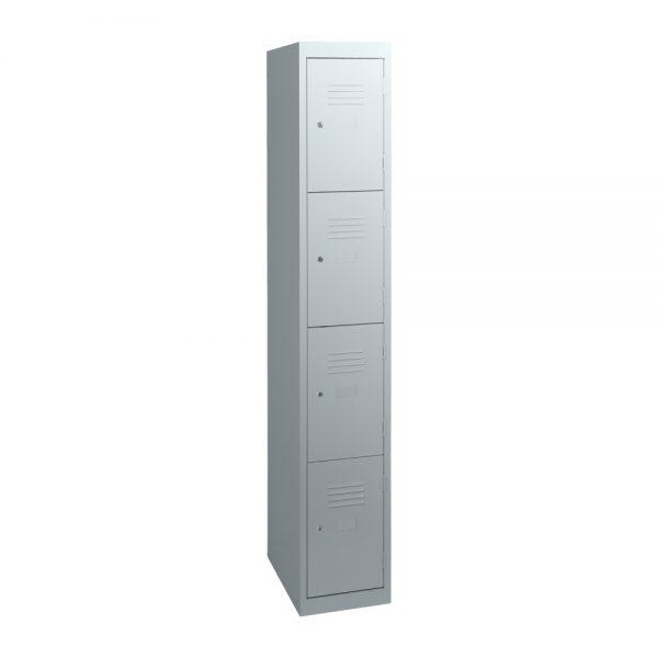 Simple Steel 4 Door Locker Australian Made Light Grey