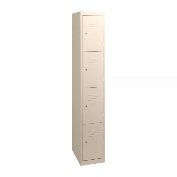Simple Steel 4 Door Locker Australian Made Wild Oats (Beige)