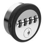 Mechanical combination locker lock 4 4 dial key override hi tech lockers