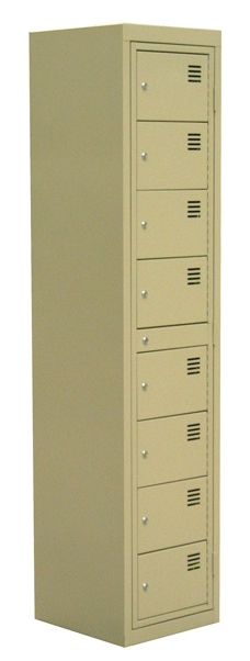 garment fold locker 8 door beige