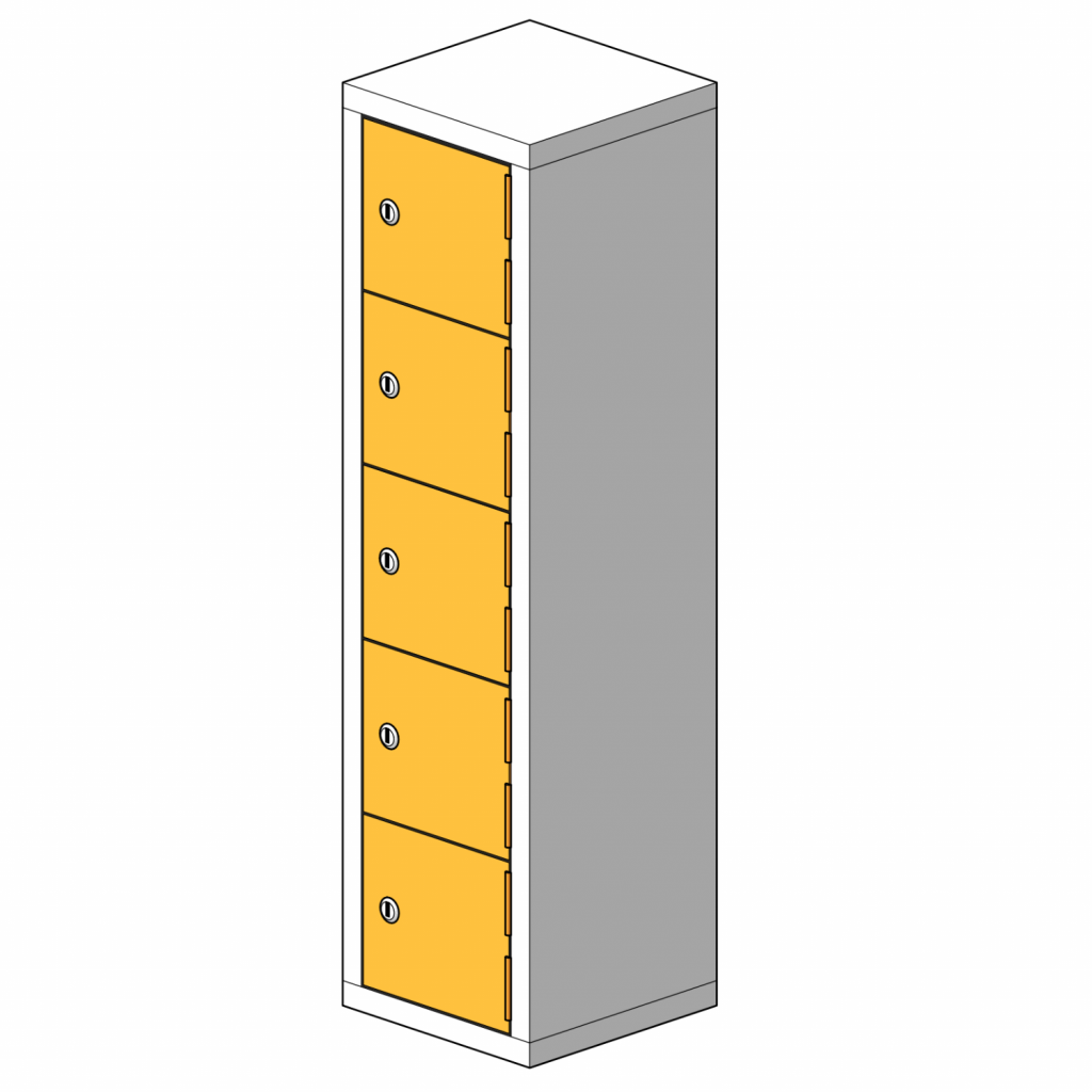 5 Compartment Mini Locker Steel Hi Tech Locker