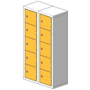 10 Compartment Mini Locker Steel Hi Tech Locker