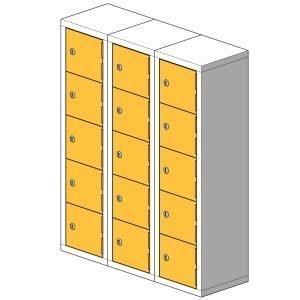 15 Compartment Mini Locker Steel Hi Tech Locker