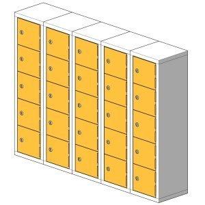 25 Compartment Mini Locker Steel Hi Tech Locker