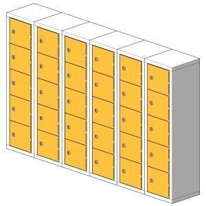 30 Compartment Mini Locker Steel Hi Tech Locker
