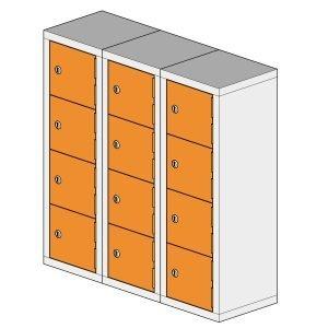 12 Compartment Mini Locker Steel Hi Tech Locker