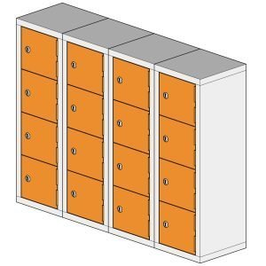 16 Compartment Mini Locker Steel Hi Tech Locker