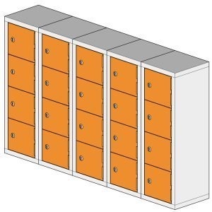 20 Compartment Mini Locker Steel Hi Tech Locker