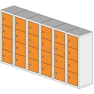 24 Compartment Mini Locker Steel Hi Tech Locker