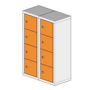 8 Compartment Mini Locker Steel Hi Tech Locker