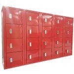 Mini Lockers signal red padlock