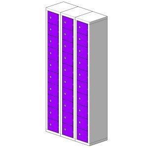 30 Door Micro Locker Hi Tech Lockers