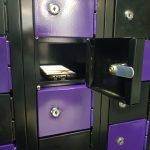 Micro Locker Closeup with phone inside Hi Tech Lockers