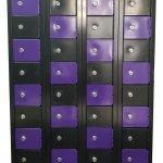 Micro Lockers Black and Purple Hi Tech Lockers