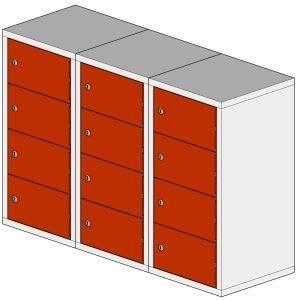 12 door tablet locker steel hi tech lockers